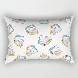Memphis Tropical Watermelon Pattern, Seamless Vector Background Rectangular Pillow