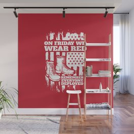 We Wear Red Friday Soldier Boots Wall Mural