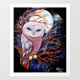 Little Night owl  Art Print