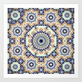 Pixel wallpaper 9 Art Print