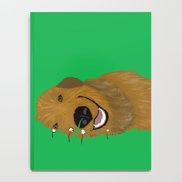 Golden Doodle in Grass Notebook