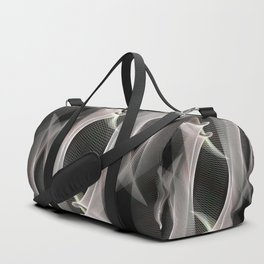 Abstract symmetry in flow of silence Duffle Bag