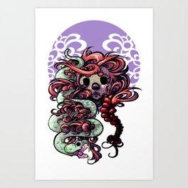 Snake In The Grass... Or Hair Art Print