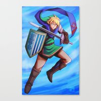 hyrule Canvas Prints featuring Hyrule Warrior by Kawo