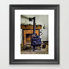 Wood Stove (Painted) Framed Art Print