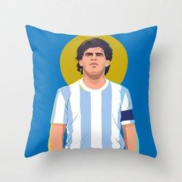 Diego Maradona is a God Throw Pillow