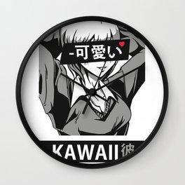 Waifu Kawaii Kanojo Wall Clock