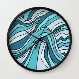Ocean Waves Of Chaos Wall Clock