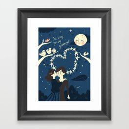 The way you say goodnight. Framed Art Print