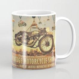 Vintage Motorcycle Show Poster Coffee Mug