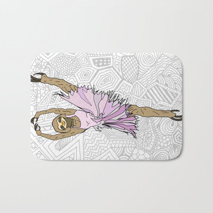 Sloth Ballerina Tutu Bath Mat
