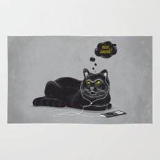 Chilling Cat Rug
