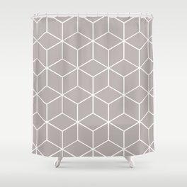 Cube Geometric 03 Grey Shower Curtain