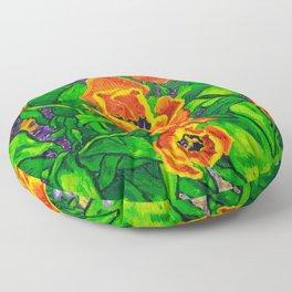 View of Tulips Floor Pillow
