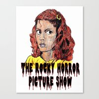 rocky horror picture show Canvas Prints featuring The Rocky Horror Picture Show by AdrockHoward