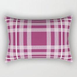 Berry Plaid Rectangular Pillow