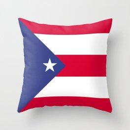 Puerto Rico flag emblem Throw Pillow