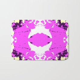 Ichitomi - Abstract Colorful Batik Camouflage Tie-Dye Style Pattern Bath Mat