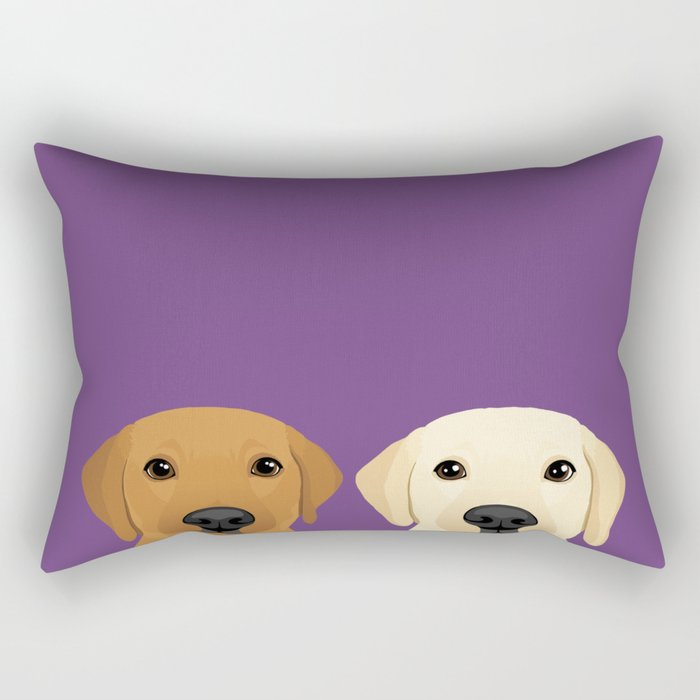 Tan Lab & Yellow Lab Rectangular Pillow