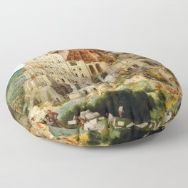 The Tower Of Babel Floor Pillow