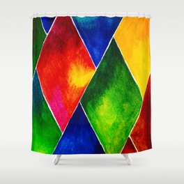 GEOMETRIC BRIGHTS #4 Shower Curtain