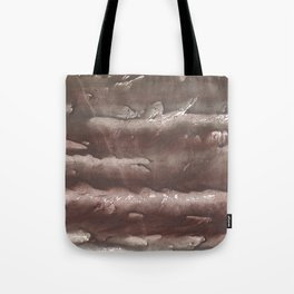 Brown Olive green stained watercolor pattern Tote Bag