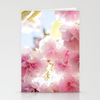 cherry blossom Stationery Cards featuring Cherry Blossom by 2sweet4words Designs