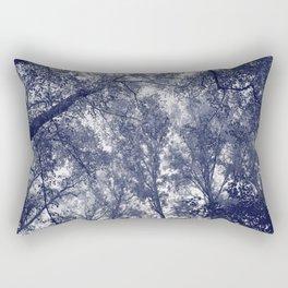 Blue Autumn Rectangular Pillow