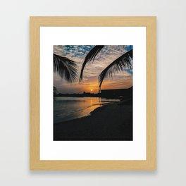Sunset - A wedding in Dakar Framed Art Print