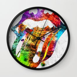 The Stones Logo Grunge Wall Clock