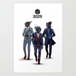 Snazzy looking bots Art Print