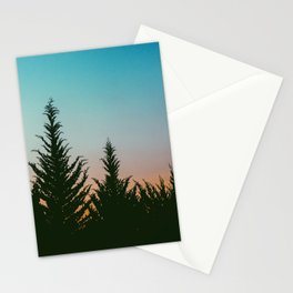 TREES - SUNSET - SUNRISE - SKY - COLOR - FOREST - PHOTOGRAPHY Stationery Cards