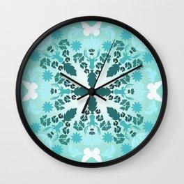 Blue Manadala  Wall Clock