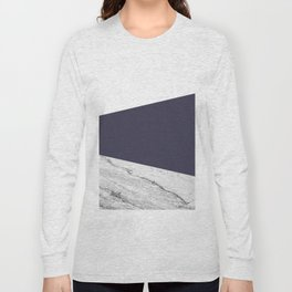 Marble Eclipse blue Geometry Long Sleeve T-shirt
