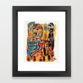Be a good man my son Framed Art Print