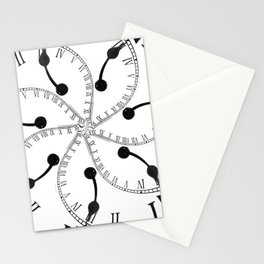 Clock Flower Stationery Cards