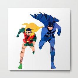 Batdude & Robin Metal Print