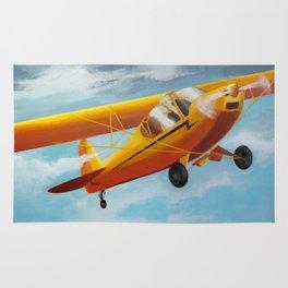 Yellow Plane, Blue Sky Rug