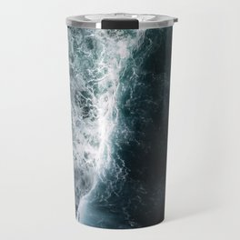 Oceanscape - White and Blue Travel Mug
