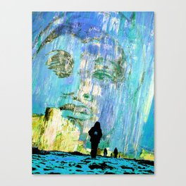 Castaneda and the kids - blue Canvas Print