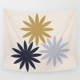 Three Flowers Wall Tapestry