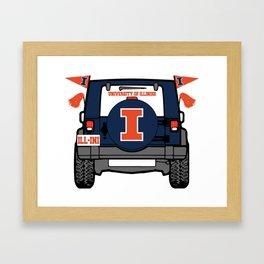 Illinois jeep Framed Art Print