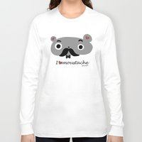 moustache Long Sleeve T-shirts featuring moustache by Sucoco