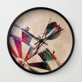 darts sport art #darts #sport Wall Clock