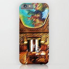 Chateau sur Mer Dining Room Watercolor - Newport Mansion Series - Jéanpaul Ferro iPhone Case