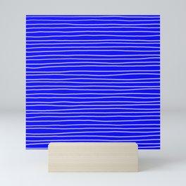 Cobalt Pinstripes Mini Art Print