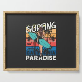Paradise Surfing Serving Tray