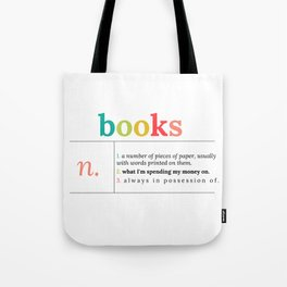 Definition of Books | in Color Tote Bag