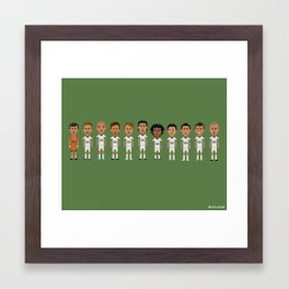 Real Madrid 2012/2013 Line Framed Art Print