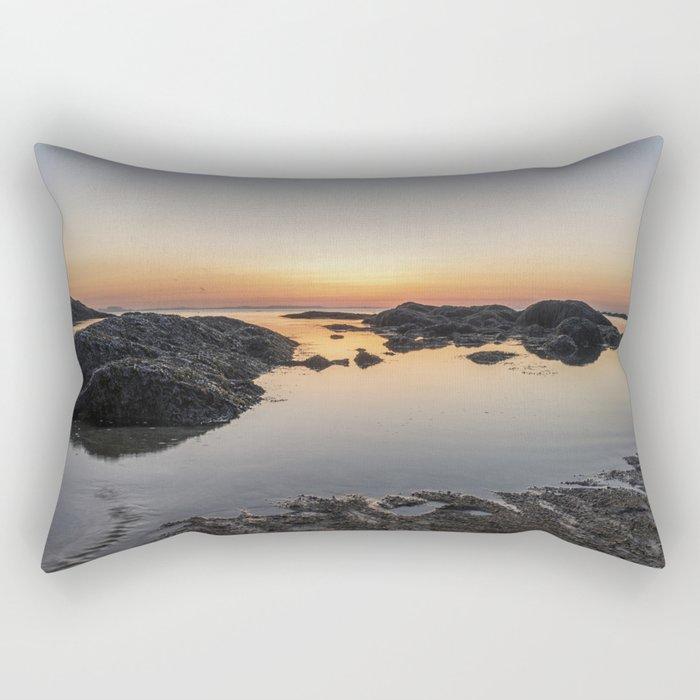 Spring Sunset at Plum Cove Beach Rectangular Pillow